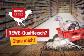 Protest gegen Qualfleisch von Rewe