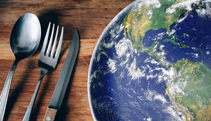 Erde als Teller