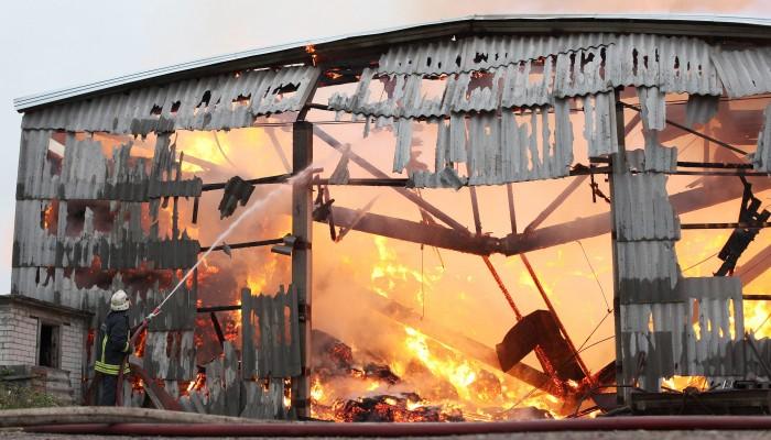brennendes Gebäude