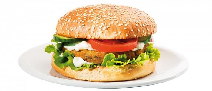 Veganer Falafel-Burger