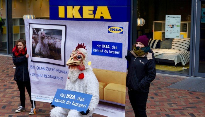 Protest bei IKEA