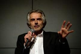 Helmut Kaplan bei einer Rede