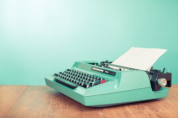 Schreibmaschine Pressemiteilungen