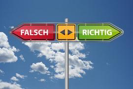 Falsch oder richtig handeln