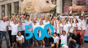 500. GrunzMobil-Einsatz auf Veganem Sommerfest
