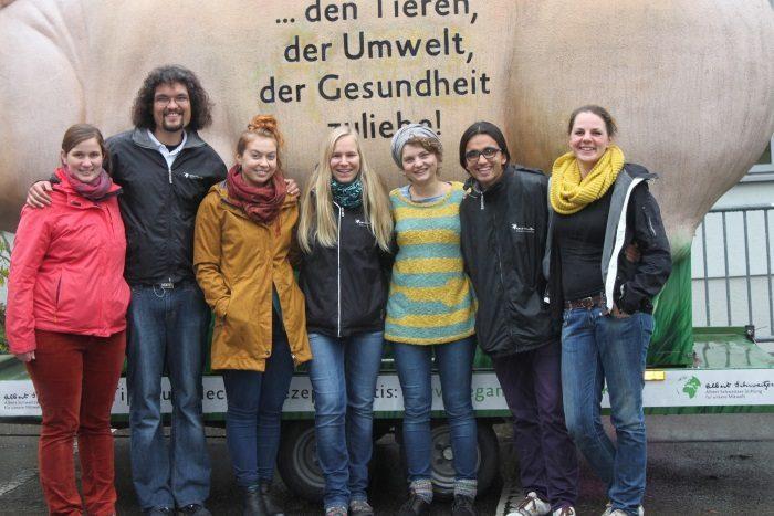 Grunzmobil an Heidelberger Schulen