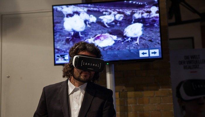 iAnimal-VR-Brille im Einsatz