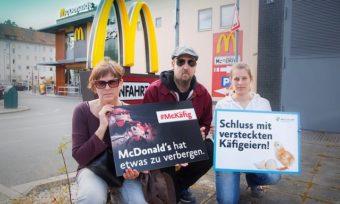 Aktion gegen versteckte Käfigeier bei McDonald's