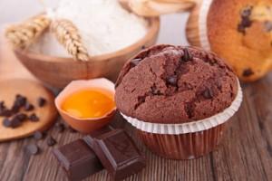 Muffin, Ei und Schokolade ohne Käfigeier