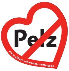 Pelz-Button der Albert Schweitzer Stiftung