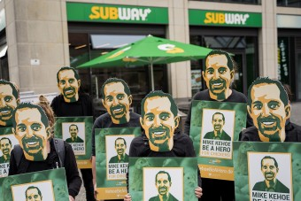 Der doppelte Kehoe: Subway-Protest vor Ort